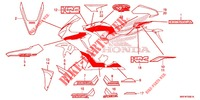 STICKERS (2) for Honda CBR 1000 RED 2018