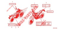 CAUTION LABEL for Honda CRF 450 L 2019