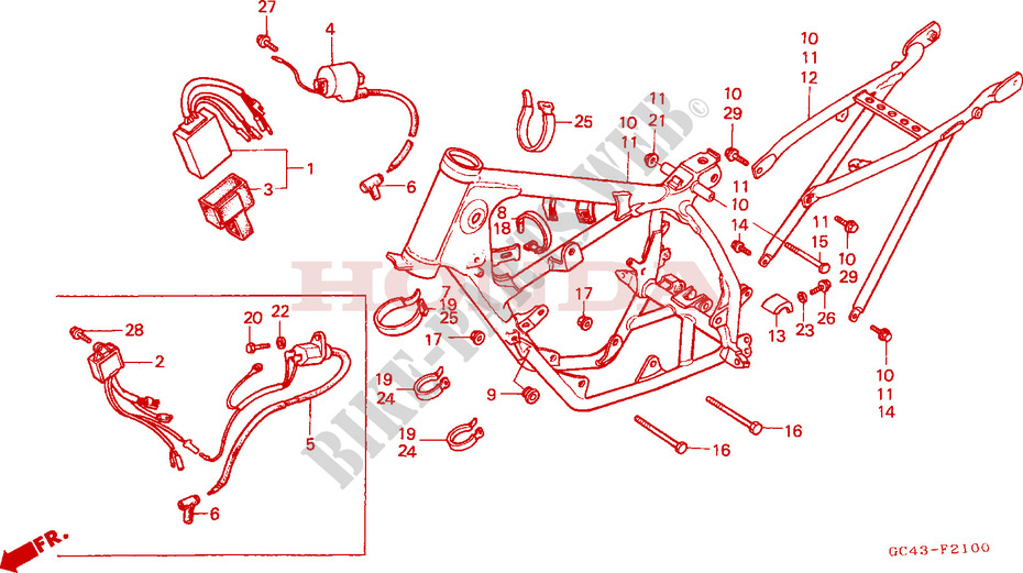 Frame Ignition Coil For Honda Cr 80 R 1985 Honda Motorcycles Atvs Genuine Spare Parts Catalog