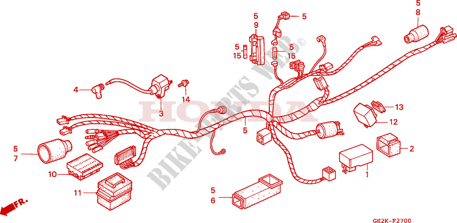 WIRE HARNESS/ IGNITION COIL for Honda 50 NSR 1993 # HONDA ... on