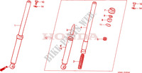 FRONT FORK for Honda QR 50 Mini Moto 1984