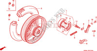 REAR WHEEL for Honda QR 50 Mini Moto 1984