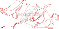SEAT   REAR COWL for Honda QR 50 Mini Moto 1984