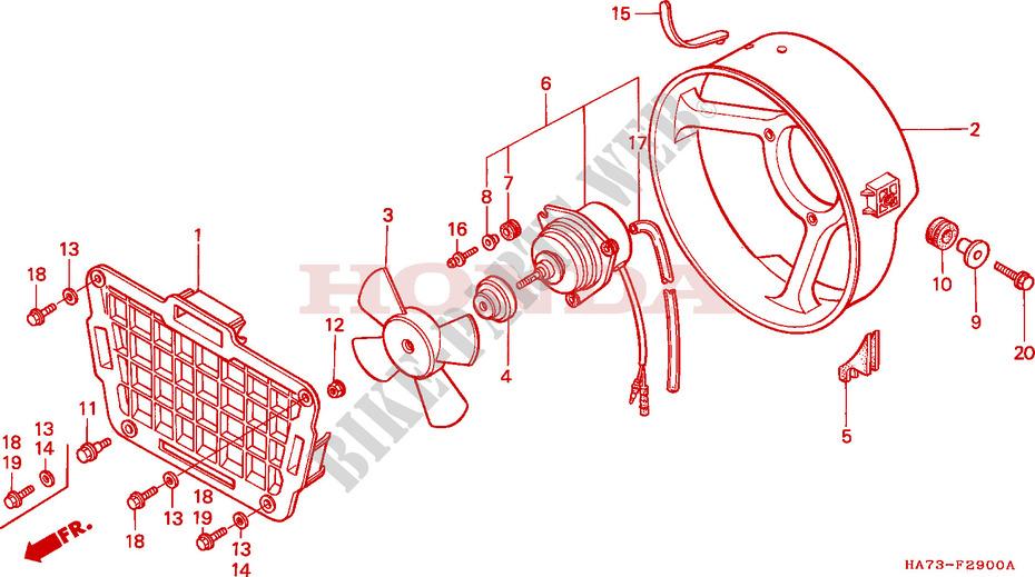 1986 Honda Fourtrax 350 Parts Diagram