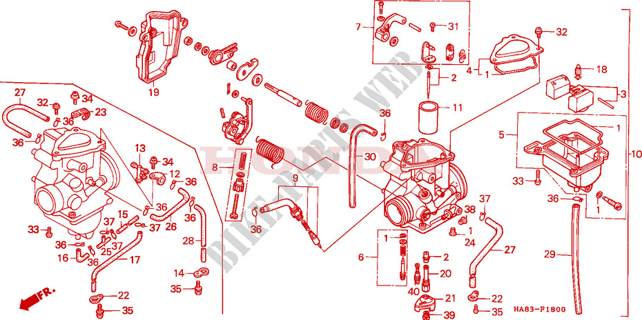 Pleasing Carburetor Frame Trx250F 1985 Fourtrax 250 Atv Honda Motorcycle Wiring Cloud Hisonuggs Outletorg