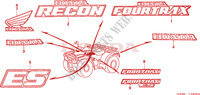 STICKERS for Honda FOURTRAX 250 RECON Standard 2004