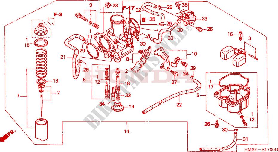 Carburetor For Honda Fourtrax 250 Recon Electric Shift