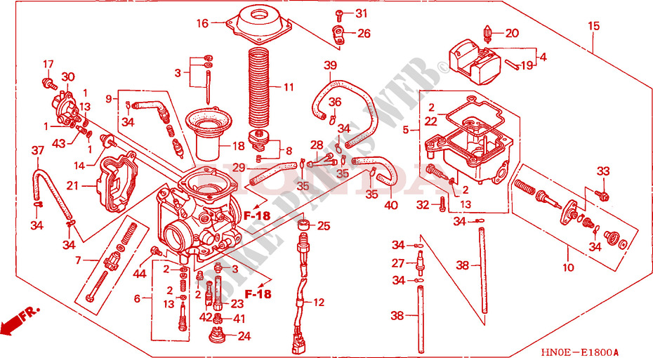 Admirable Carburetor Engine Trx450Fm3 2003 Fourtrax 450 Atv Honda Motorcycle Wiring Cloud Hisonuggs Outletorg
