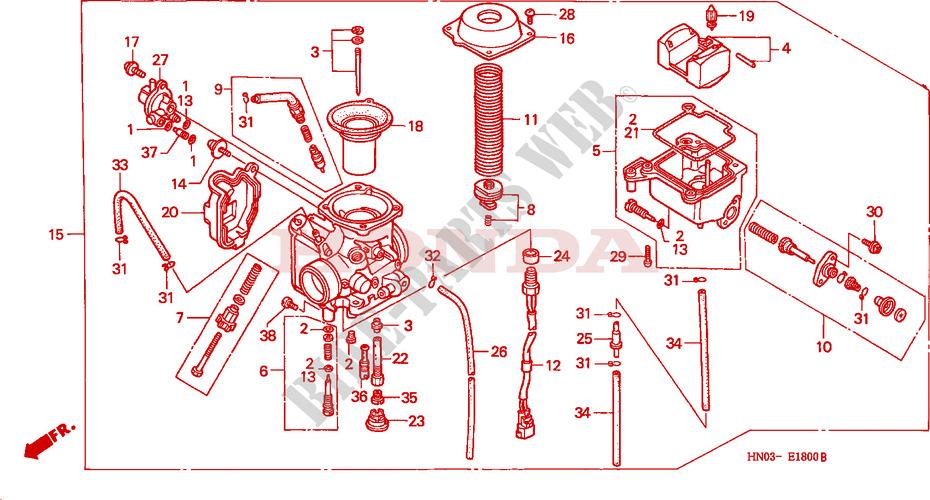 Honda Foreman 500 Carburetor Diagram