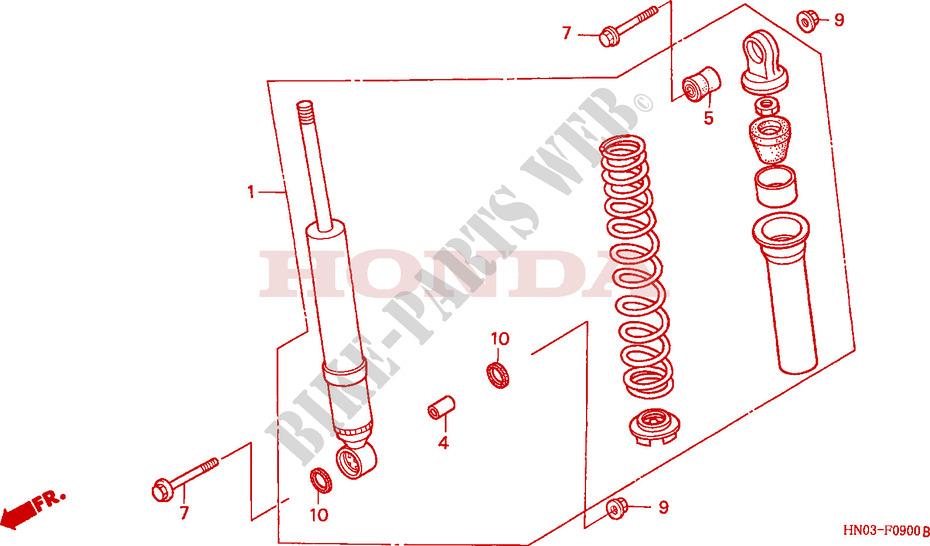 Honda Motorcycle Parts Online Catalog Genuine Honda ATV And Scooter Parts  Source · FRONT CUSHION Frame TRX450ESY 2000 FOURTRAX 450 ATV Honda  Motorcycle