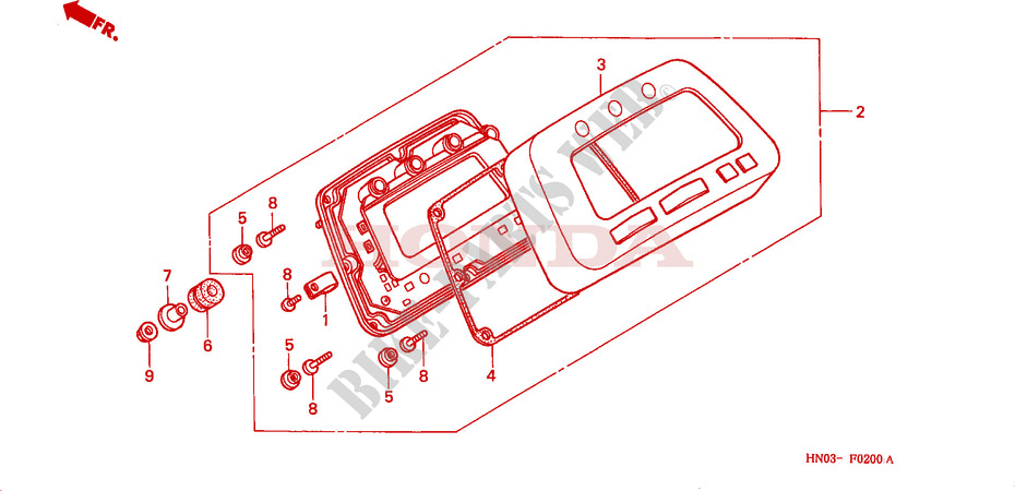honda atv 450 fourtrax 2001 trx450es1 frame speedometer