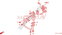 AIR INJECTION CONTROL VALVE for Honda FORESIGHT 250 2005