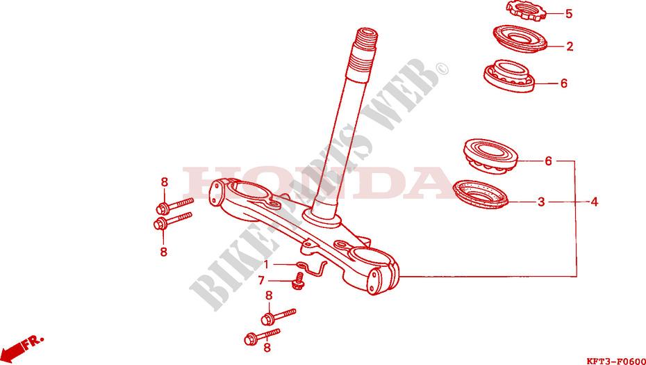 For Honda CLR 125 W City Fly Front Brake Lever Black 1998