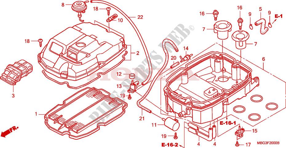 Air Cleaner For Honda Vfr 800 Interceptor 2000   Honda