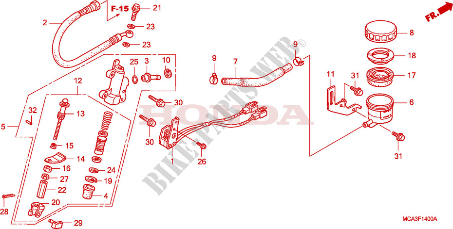 Honda GL 1800 A1 Gold Wing  2001 1800 CC Front Left Hand Full Caliper Piston