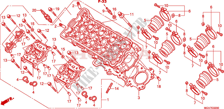 CYLINDER HEAD for Honda CBR 600 F SPECIAL 2011