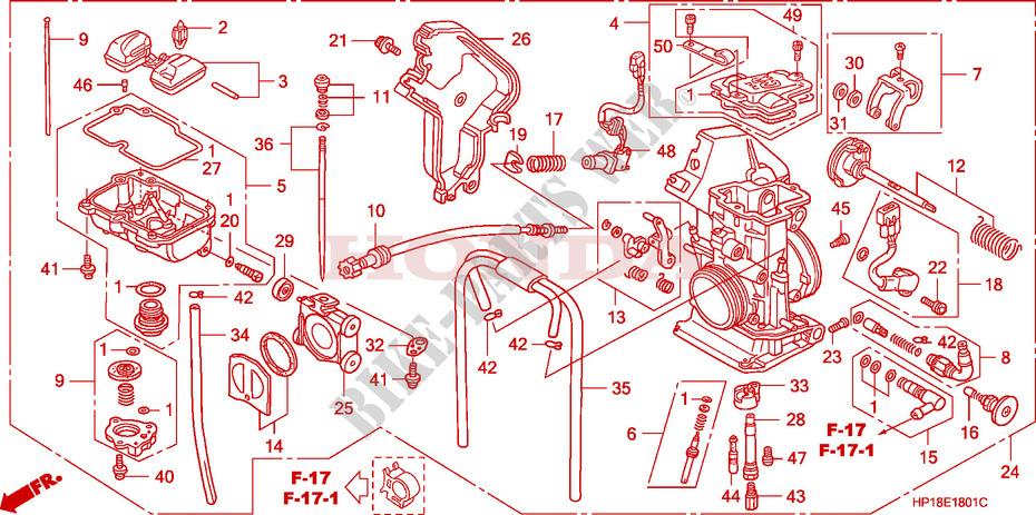 Carburetor Trx450r6 7 8 Er6 7 8 For Honda Trx 450 R Sportrax Electric Start 2006 Honda Motorcycles Atvs Genuine Spare Parts Catalog