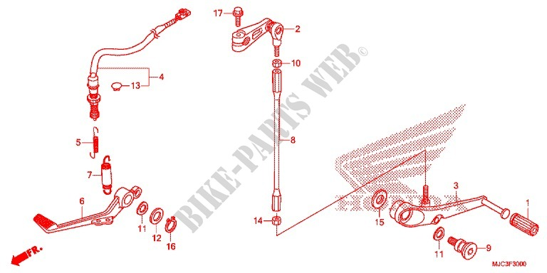BRAKE PEDAL/CHANGE PEDAL for Honda CBR 600 RR REPSOL 2013