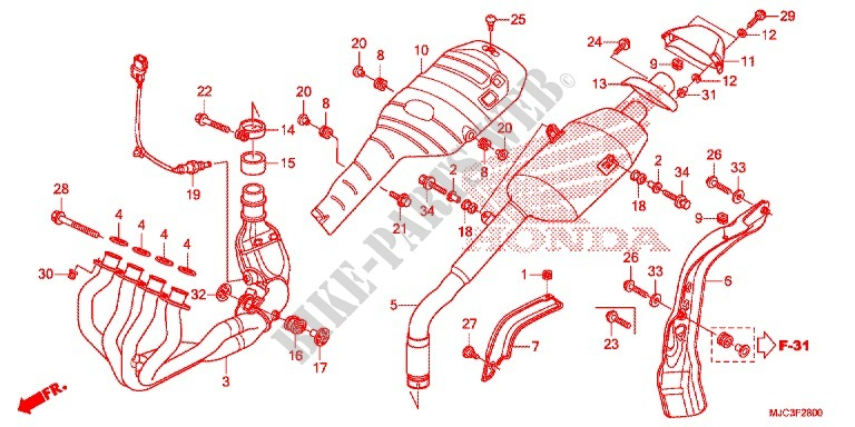 EXHAUST MUFFLER (2) for Honda CBR 600 RR REPSOL 2013