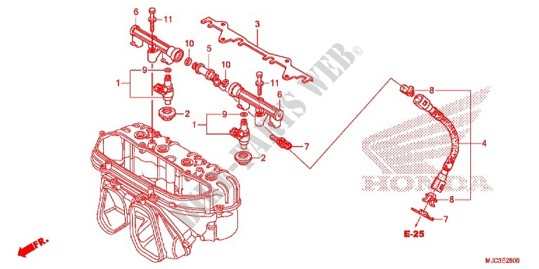 FUEL INJECTOR for Honda CBR 600 RR REPSOL 2013