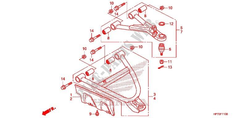 L HONDA 51380-HR0-F00 ARM UPPER FR.
