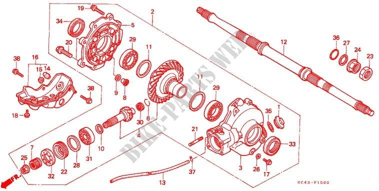 GEAR LEVER RUBBER TRX 300 FW 1988-2000