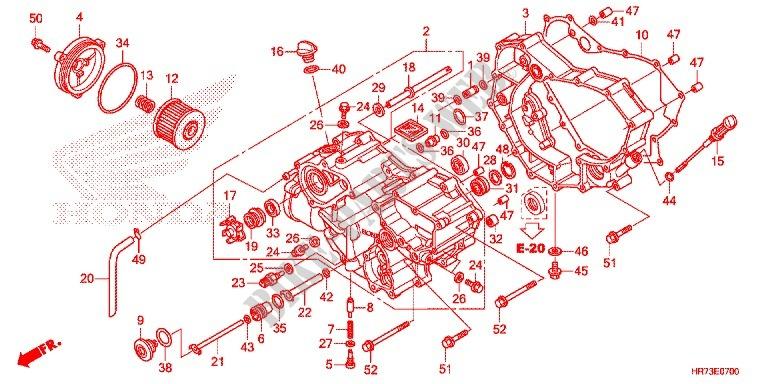 Honda ATV 420 FOURTRAX 2015 TRX420FA6F Engine FRONT CRANKCASE COVER