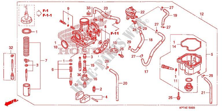 K/&L Supply 4//pk Carburetor Cap Gaskets for Honda CRF150R 2007-2009