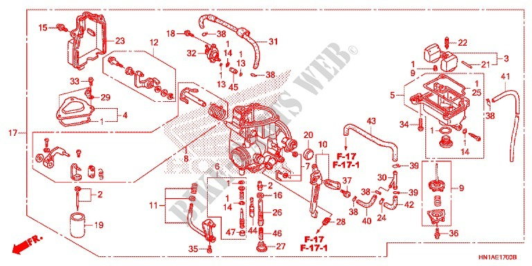 CARBURETOR (2) for Honda FOURTRAX SPORT 400 EX 2007 # HONDA ... on