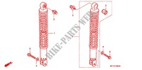 REAR SHOCK ABSORBER (2) for Honda SILVER WING 600 2005