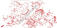 SINGLE SEAT (2) for Honda SILVER WING 600 2005