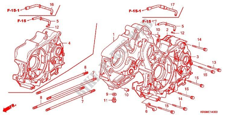 honda moto 100 wave 2006 anf100sr6 engine crankcase/oil pump