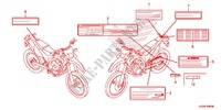 CAUTION LABEL (1) for Honda CRF 250 L 2016