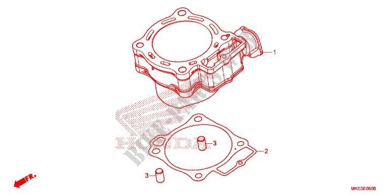honda moto 450 crf 2017 crf450rh engine rear brake master cylinder