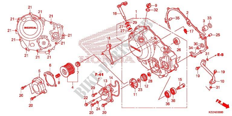 Honda Right Crankcase Cover Gasket 11394-KYJ-900