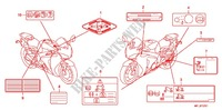 CAUTION LABEL (2) for Honda CBR 1000 RR ABS 2010