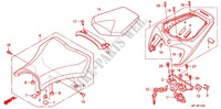 SINGLE SEAT (2) for Honda CBR 1000 RR ABS 2010