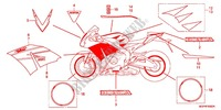 RAYURE/MARQUE (3) for Honda CBR 1000 RR SP ABS TRICOLOR 2014