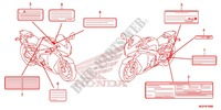 CAUTION LABEL (1) Frame 1000 honda-motorcycle CBR 2014 F_49