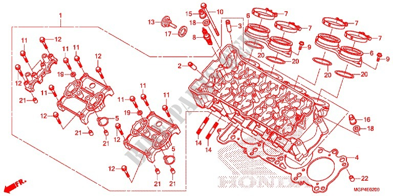 CYLINDER   HEAD for Honda CBR 1000 RR SP ABS TRICOLOR 2014