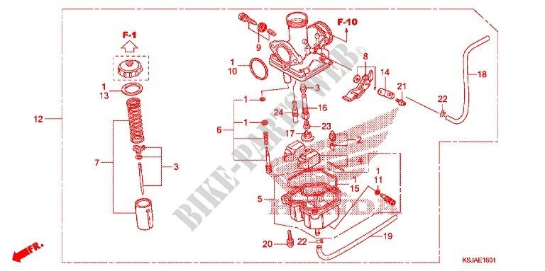 Carburetor  Crf100f  For Honda Crf 100 2009   Honda