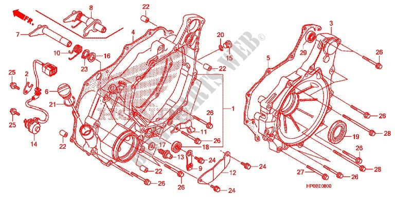 Rear Crankcase Cover For Honda Fourtrax 500 Foreman 4x4